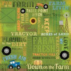 Karen Foster Design - 12 x 12 Paper - Love My Tractor Collage at Scrapbook.com