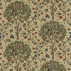 The Original Morris & Co - Arts and crafts, fabrics and wallpaper designs by William Morris & Company | Products | British/UK Fabrics and Wallpapers | Kelmscott Tree (DM6F220328) | Archive Prints
