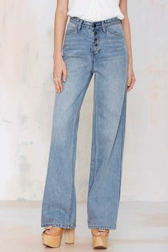 Nasty Gal Denim - The Wide Strider - Denim | Denim | Denim | All