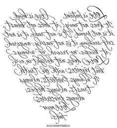 cuore con scritte
