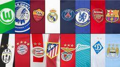 Nuevas camisetas de fútbol del octavos de final de la Liga de Campeones 2016