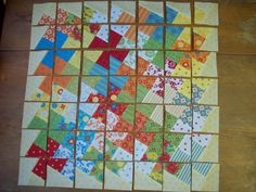 """Fabric Layout for Twister Quilt 