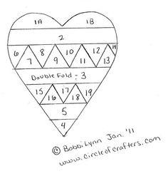 "Iris Folding. ""Heart Pattern"""