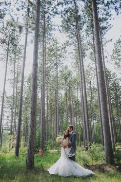 rustic michigan wedding