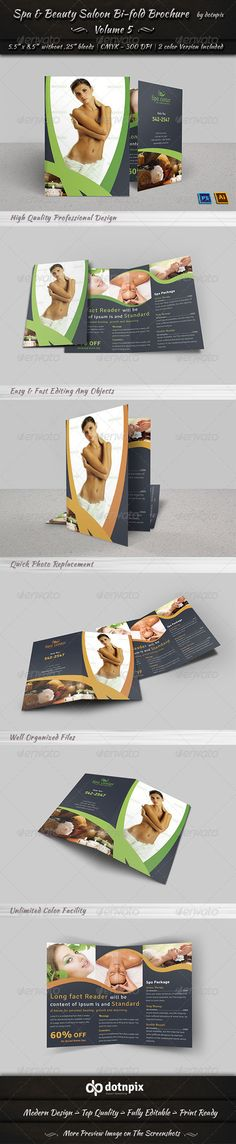 Keep A Simple And Clean Spa Brochure Design Look  Design