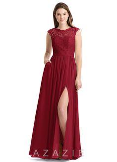 fb9e9c8e300 Azazie Arden Bridesmaid Dress - Burgundy