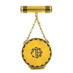 475caba2adb CARTIER - an Art Deco enamel vanity case. The circular on