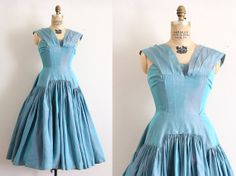 vintage 1950s dress // 50s purple and blue dress by TrunkofDresses, $98.00