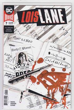 Lois Lane Mike Perkins Cover & Pencils, Greg Rucka Story, Ties to the events of December's Superman REVEAL Rare Comic Books, Comic Book Covers, Greg Rucka, Teen Series, Superman And Lois Lane, Superman News, Truth And Justice, Man Of Steel, American Comics
