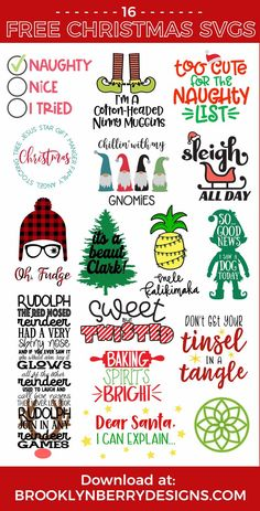 Free Christmas Story SVG 16 Christmas Cut Files We're back with more free Christmas Cut Files! Make Christmas Crafts with your Cricut Maker, Cricut Explore or Silhouette Cameo with these adorable free Christmas svg files! Cricut Ideas, Cricut Tutorials, Merry Christmas, A Christmas Story, Christmas Crafts, Christmas Gnome, Cricut Christmas Ideas, Christmas Vinyl, Christmas Planning