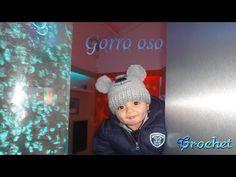 CROCHET: GORRO OSO CON POMPONES - YouTube