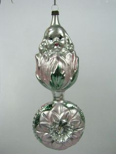 vintage girl in tulip on indent ball german mercury glass christmas ornament ebay