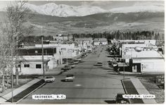 1950's  Smithers BC Main Street, Street View, Western Canada, O Canada, Rv Parks, Cabin Rentals, Historical Pictures, Oh The Places You'll Go, British Columbia