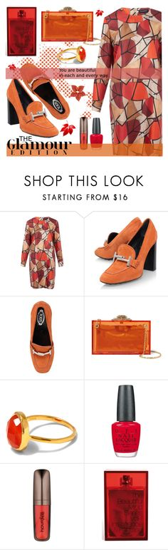 """""""beautiful in each & every way"""" by joliedy ❤ liked on Polyvore featuring Piazza Sempione, Tod's, Charlotte Olympia, Monica Vinader, OPI, Hourglass Cosmetics and The Beautiful Mind Series"""