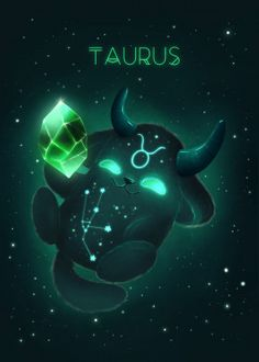 Zodiac sign series ♉️ Taurus with emerald birthstone 💚✨ ~ If you want your own glowing monster look at my etsy shop ❗️ link in bio… Taurus Art, Zodiac Signs Taurus, Taurus Woman, Anime Zodiac, Zodiac Art, Animal Drawings, Cute Drawings, Zodiac Signs Animals, Zodiac Sign Fashion