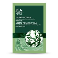 The Body Shop Tea Tree Face Mask - Single Use (7,68 BRL) ❤ liked on Polyvore featuring beauty products, skincare, face care, face masks, beauty and the body shop