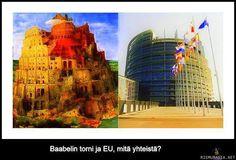 Baabelin tornin ja EU:n yhtäläisyyksiä