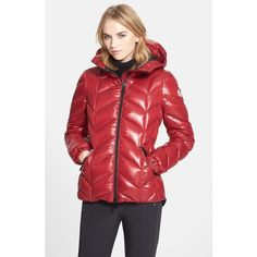 Moncler 'Badete' Hooded Down Puffer Coat ($1,300) ❤ liked on Polyvore