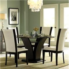710 5 Piece Semi-Formal Dining Set by Homelegance at Del Sol Furniture