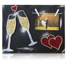 Wedding Champagne Picture Frame Kit