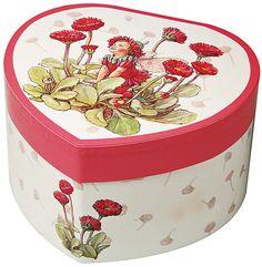Large Heart Red Daisy Flower Fairies Music Box (Trousselier, www.trousselier.fr)