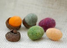 multicolored felted wool