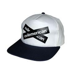 Evilemerican Cap - EvilX – White/Navy $19.95 Cap, Fashion, Baseball Hat, Moda, Fashion Styles, Peaked Cap, Fashion Illustrations, Fashion Models