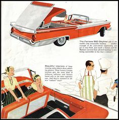 1959 Ford Fairlane 500 Skyliner Retractable and Fairlane 500 Sunliner Convertible