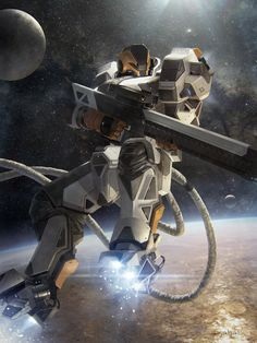 Galaxy Saga (applibot) Orbital sniper advanced by djahal.deviantart.com on @deviantART