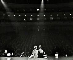 Julie Andrews and Carol Burnett live at Carnegie Hall.
