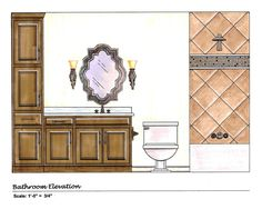 Elevation - A drawing of the vertical faces and elements of a structure, either interior or exterior.