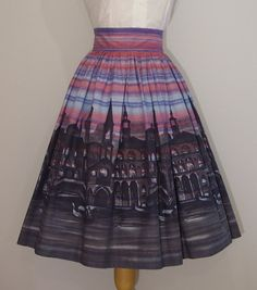 1950s Novelty Print Skirt / Venice at by RainbowValleyVintage, £65.00