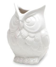 Loving this White Owl Vase on #zulily! #zulilyfinds