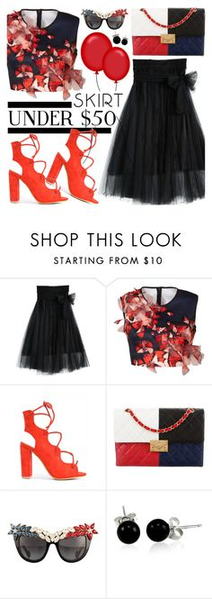 """""""Moonrise tulle skirt $32"""" by koogallove ❤ liked on Polyvore featuring Clover Canyon, Chanel, Anna-Karin Karlsson and Bling Jewelry"""