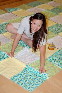 FREE Tutorial : Photos and complete instructions on How to Make a Rag Quilt - blooming mommy: Wrapped Up in Rags.....