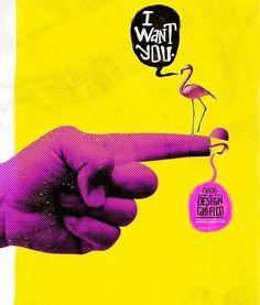 Miami Ad School - I Want You Marcelo Ribeiro Web Design, Layout Design, Design Art, Print Design, Logo Design, Graphic Design Posters, Graphic Design Inspiration, Collage Design, Grafik Design