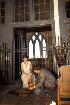 Foot washing ceremony.  Want to do this... don't know if I could hold back the ugly cry, though.