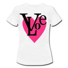 """Herz mit Schrift """"LOVE"""" Vektor-Motiv mit 2 farben zum ändern!T-Shirts."""
