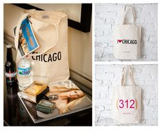 Great wedding bag idea for guests when they arrive at the hotel! Third Coast Collection