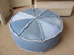 Ottoman tuffet floor cushion round hassack hassock floor pillow bean bag pouf storage bag foot stool