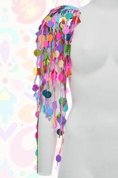 Sequin Shoulder Pads - meerjungfrau - New Craft Mardi Gras Outfits, Mardi Gras Costumes, Diy Costumes, Dance Costumes, Festival Outfits, Festival Fashion, Vichy Rose, Body Adornment, Shoulder Pads