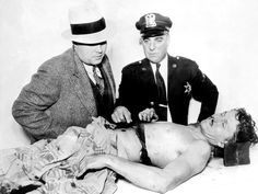 The body of Lester M. Gillis who also went under the sobriquet of George 'Baby Face' Nelson lies on the mortuary slab in Niles Center, Illinois Real Gangster, Mafia Gangster, Morgue Photos, Baby Face Nelson, Mafia Crime, Bank Robber, Baby Boy Photos, George Nelson, The Guardian
