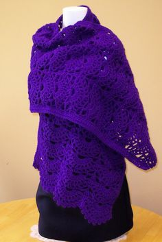 Crochet Prayer Shawl by hendersonmemories on Etsy, $45.00