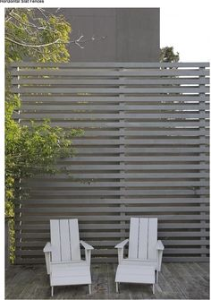 Awesome Modern Front Yard Privacy Fences Ideas - All For Garden Modern Front Yard, Front Yard Fence, Diy Fence, Modern Fence, Fence Ideas, Farm Fence, Fence Gate, Fence Panels, Small Fence