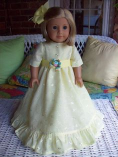 American Girl doll or 18 inch doll dress and hair by ASewSewShop, $24.00