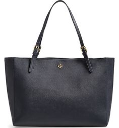 3d0d7e8d01f698 Main Image - Tory Burch 'York' Buckle Tote Navy Tote Bags, Tory Burch