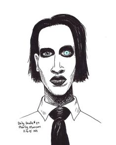 No.27 Marilyn Manson - Drawing / Illustration / Daily Doodle
