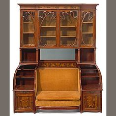 A Louis Majorelle marquetry cabinet/settee circa 1900