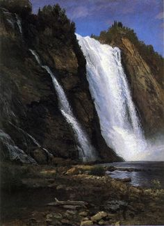 Waterfall -------------by Albert Bierstadt