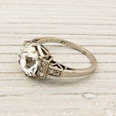 Wowsa...stunning!  Vintage 2.06 Carat Old European Cut Diamond Engagement Ring